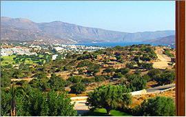 Elounda: Blick vom Balkon der Villa Glan y Mor
